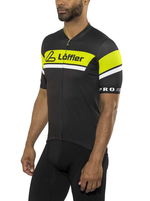 Löffler Pro Racing Fietsshirt korte mouwen Heren blauw/wit